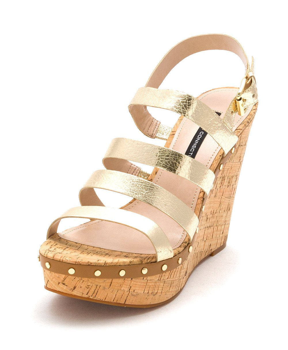 French Connection Women's Dion Wedge Sandal B01E8QN1C0 11 B(M) US|Lt Gold