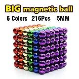 LOVEYIKOAI 216 Pcs Magnets Cube Building Blocks