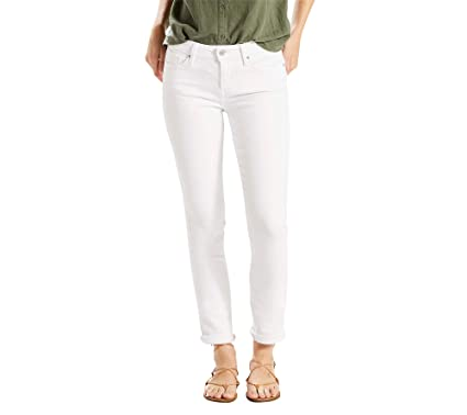 b16a0805 Levi's Midrise Skinny Jeans Soft White 34 at Amazon Women's Jeans store
