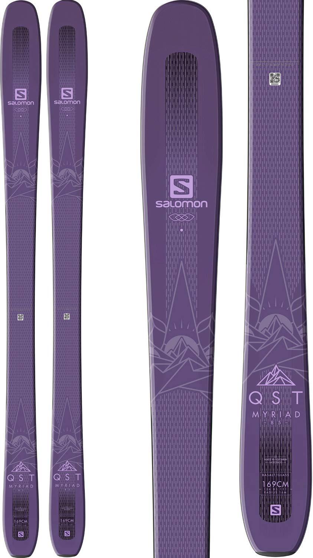 Salomon QST Myriad 85 Skis Purple Womens Sz 153cm by Salomon