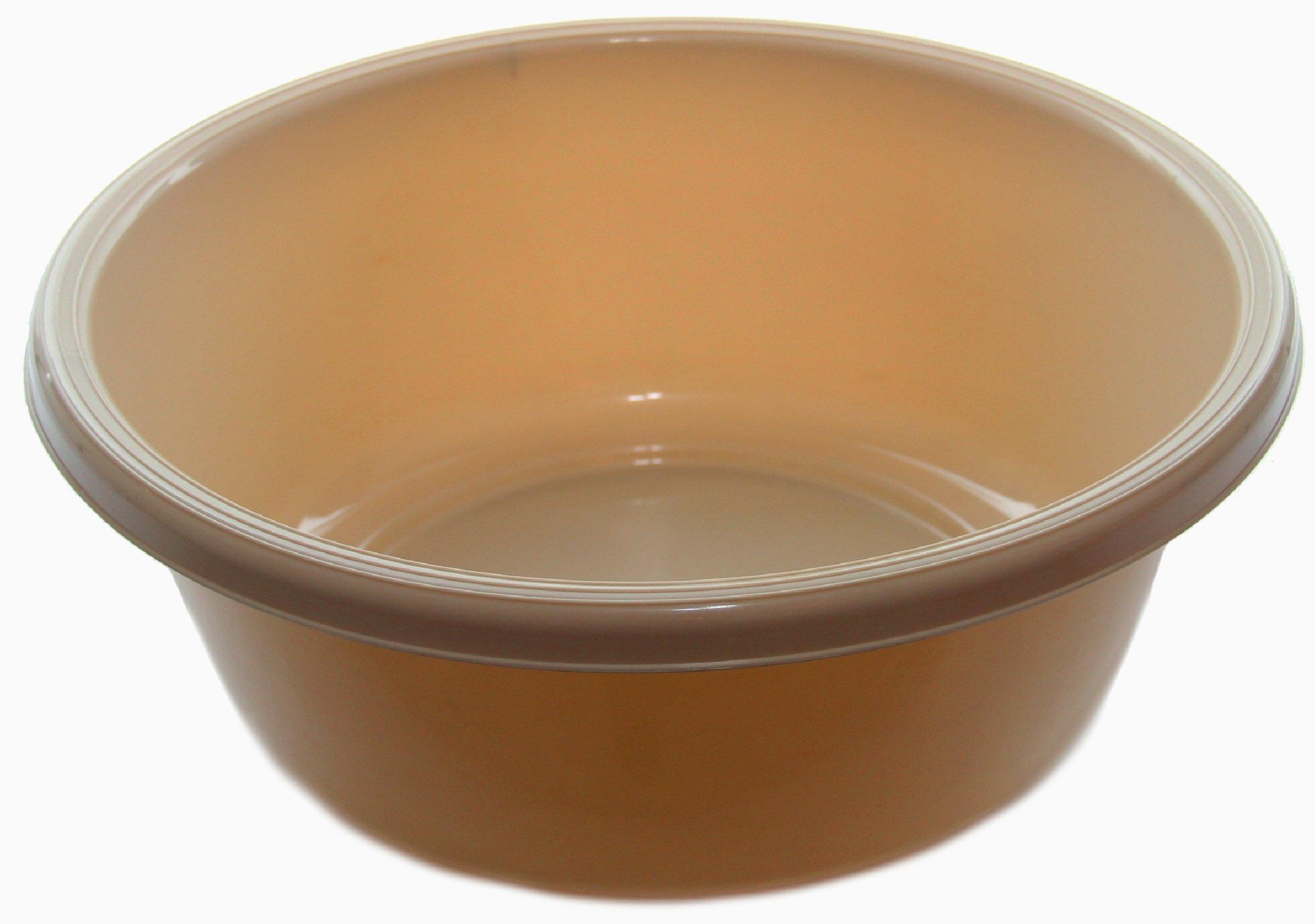 Ybm Home Round Plastic Wash Basin (1151 13 inch, Beige)