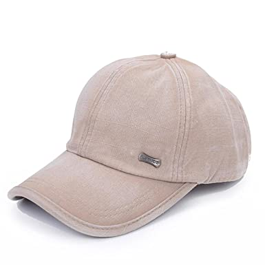 d423e502 ... Unisex Adjustable Strap Hip Hop Baseball Caps Color Fading Treatment  Curled Peak Sun Hat Available In Classic 5 Colours (Beige): Amazon.co.uk:  Clothing