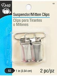 Dritz Mitten/Suspender Clips 2/Pkg-Nickel