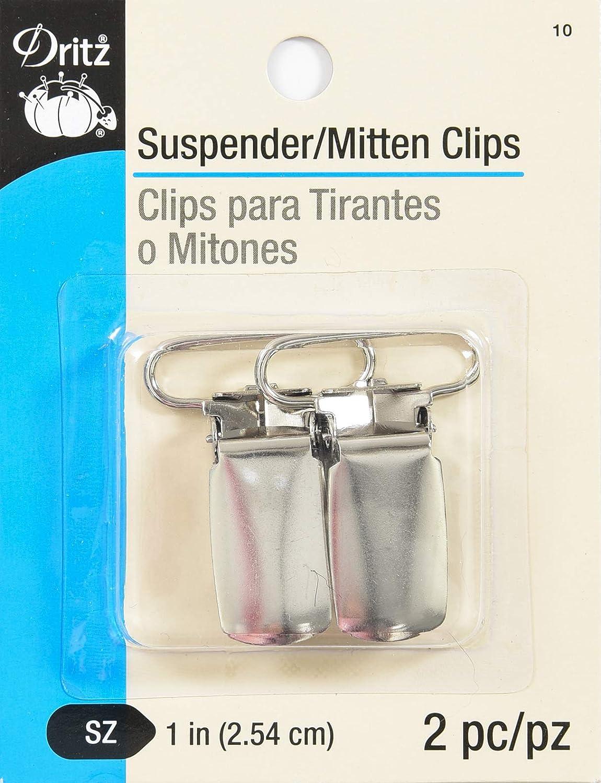 Dritz Mitten/Suspender Clips 2/Pkg-Nickel 10