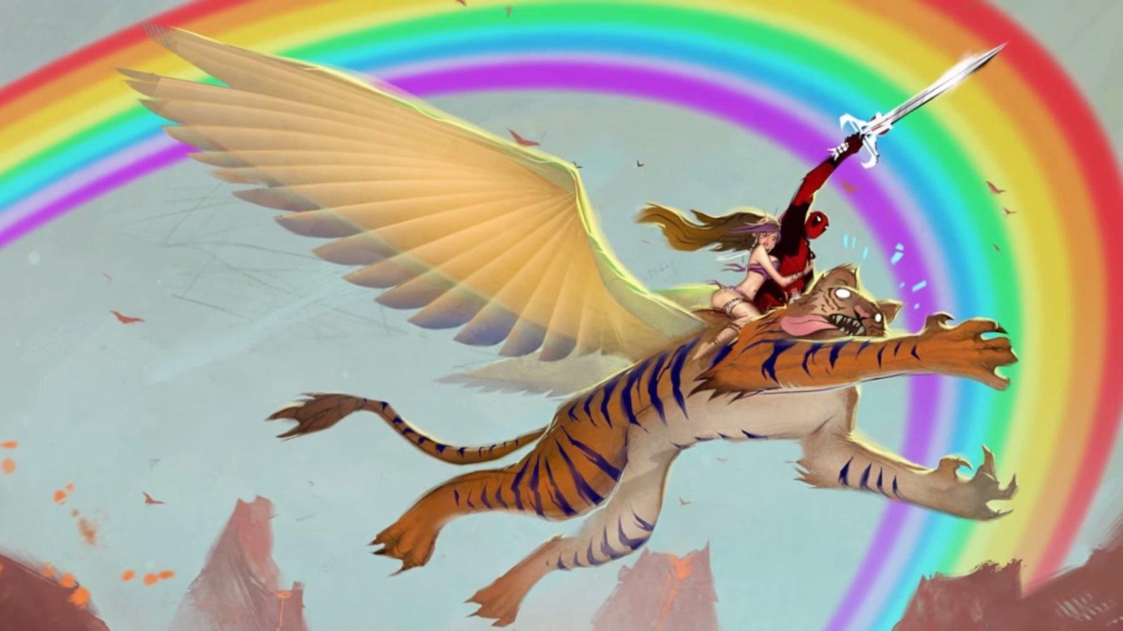 Deadpool Rainbow Playmat 24 x 14 inch