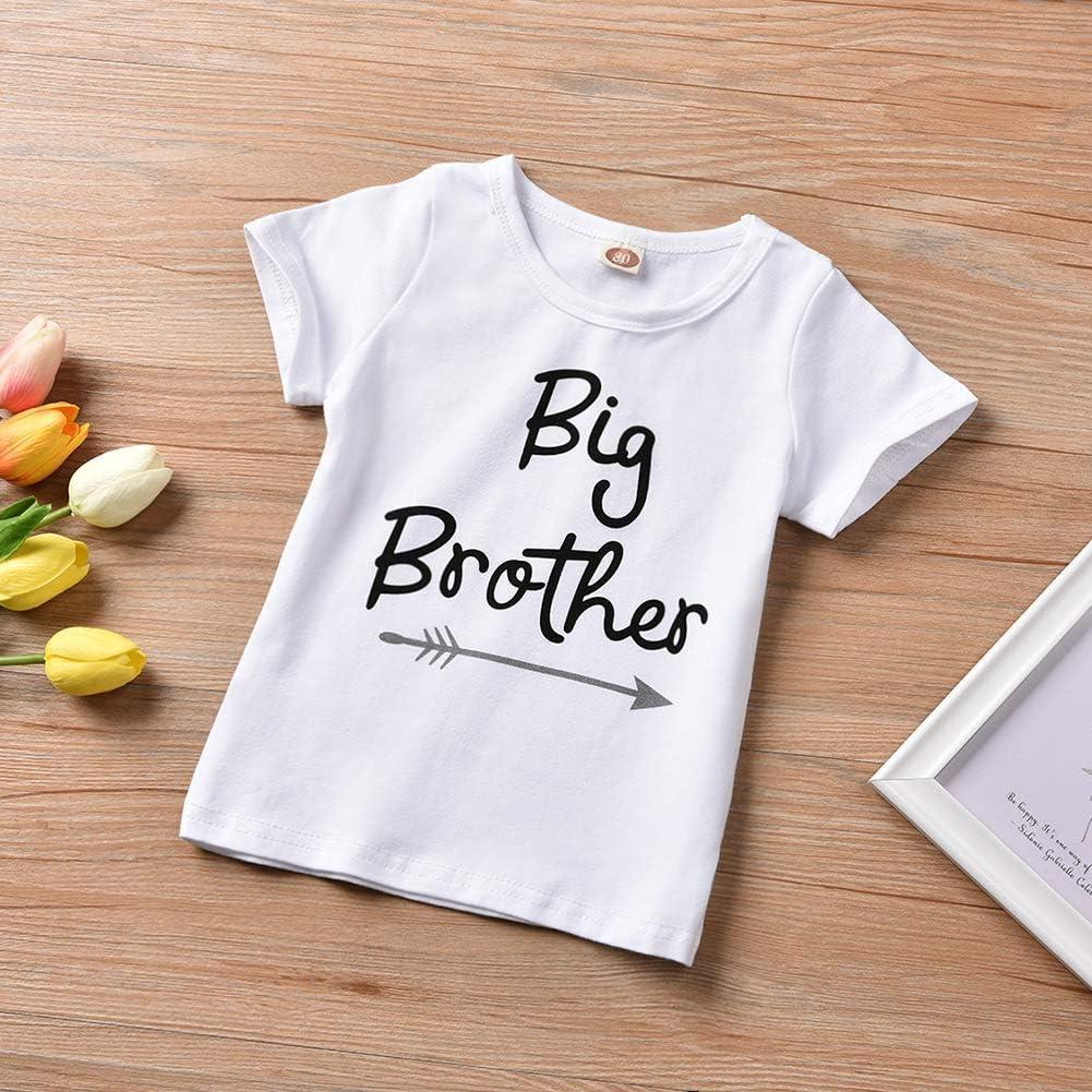 Haokaini Baby Boy Girl Summer Camiseta de Manga Corta Tops y Pantalones Conjunto de Ropa Hermanos y Hermanas Conjuntos a Juego