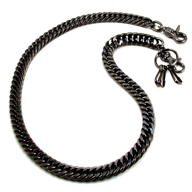 Doublek Heavy Biker Trucker Keychain Key Jean Wallet Chain (17'') Black CS1120BLK