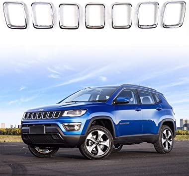 ABS Car Key Covers Trim-Blue for Jeep Cherokee 2014 2015 2016 2017 18 2019
