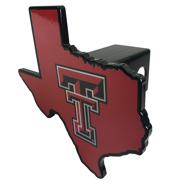 Texas Tech UniversityレッドRaidersプレミアムソリッドメタルHitchカバー – Texas Shaped B076Q86XGT