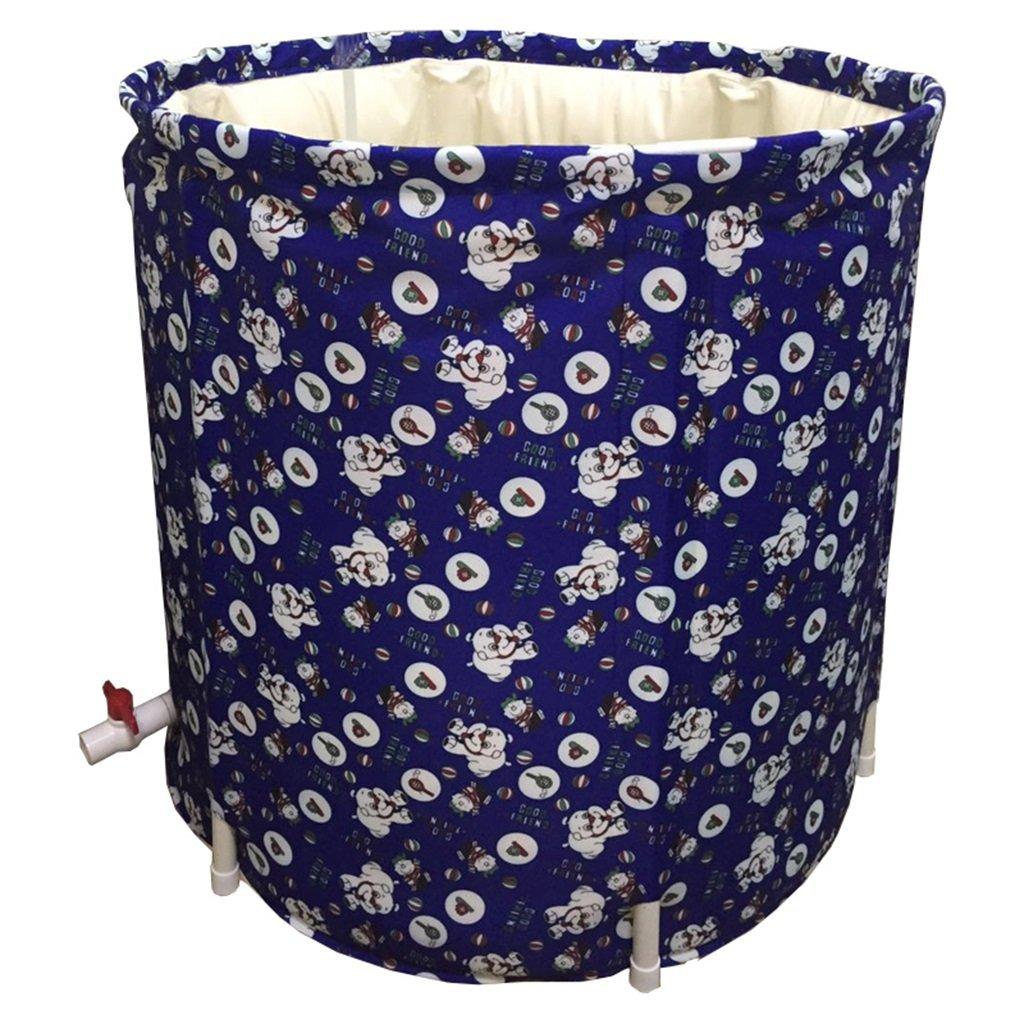 Bathtub.A ANDEa La Vasca da Bagno Pieghevole Portatile di colore Blu Non ha Bisogno della Vasca da Bagno di plastica di Spessore Gonfiabile Originalità (colore   B)