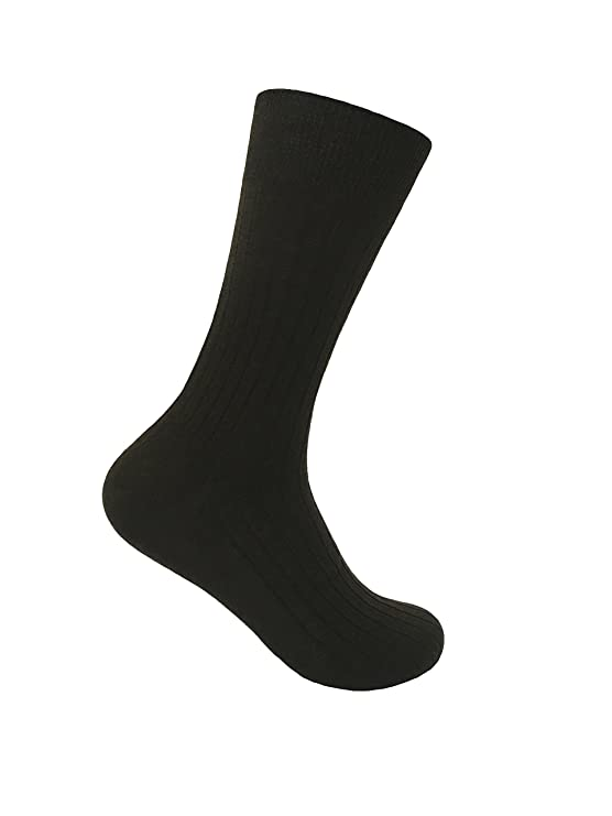 6 Pares Hombre 100% Algodon Negros Calcetines Elegantes Business Finos Verano Respirable Deporte q9pPh5
