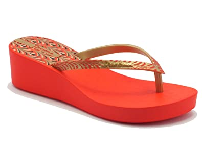 5cacbc1b003e1d Ipanema Women s 81466 Art Deco Fem Red Gold Thong Sandals Red Red Red Size
