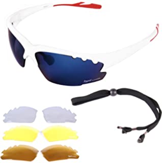 36add66b279 Rapid Eyewear White CYCLING SUNGLASSES for Men   Women With Interchangeable  Mirror