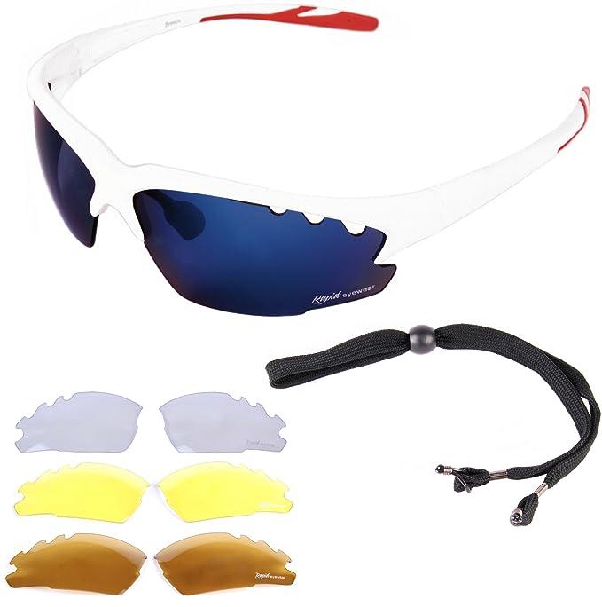 Rapid Eyewear GAFAS DE SOL CICLISMO Y CORRER BLANCAS Breeze Cycle para hombre y