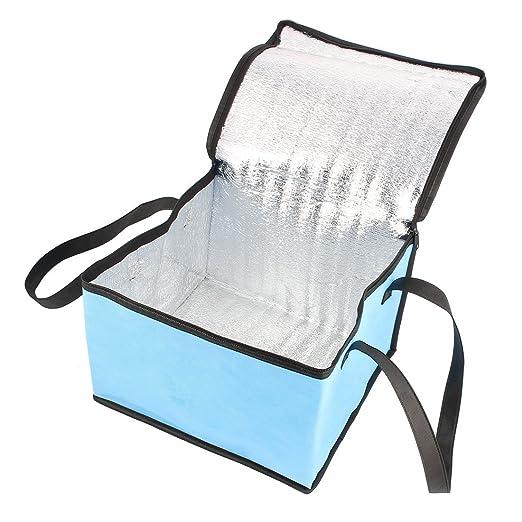 Amazon.com: Sostenedor de la fruta bebida de leche eDealMax picnic viaje Plaza comida caliente refrigerador de almacenamiento bolsa de asas azul: Kitchen & ...