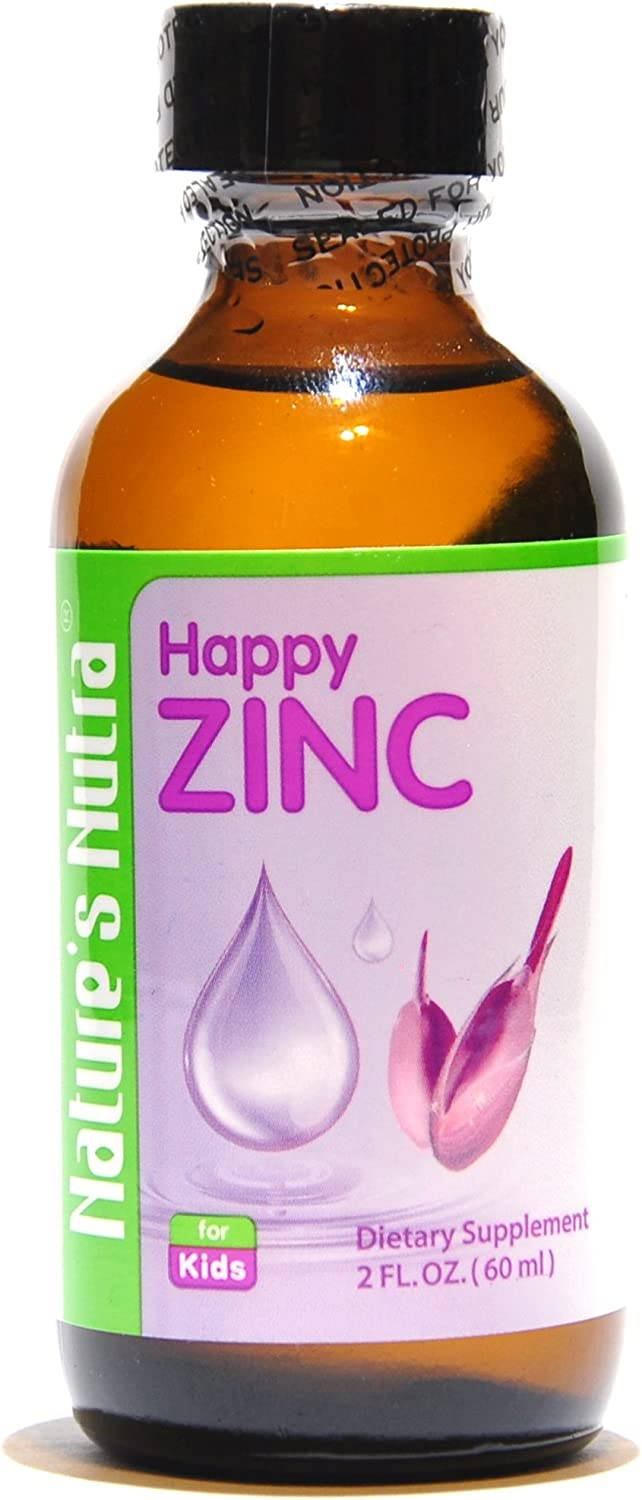 Nature s Nutra Happy Zinc, 2 Fl. Oz 60ml 4 1 Bundle Pack with Bonus Bottle, Premium Baby and Infant Liquid Drops, Toddlers Kids Children Multivitamin Supplement, Antioxidant, High Bioavailability