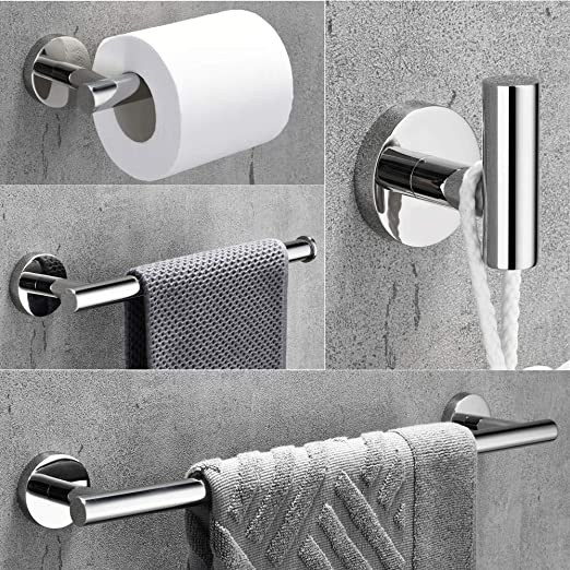 White Towel Ring WOMAO Round Towel Holder Brass Towel Rail Wall Mounted Drilling Bathroom Kitchen Shower Room Elegant and Modern
