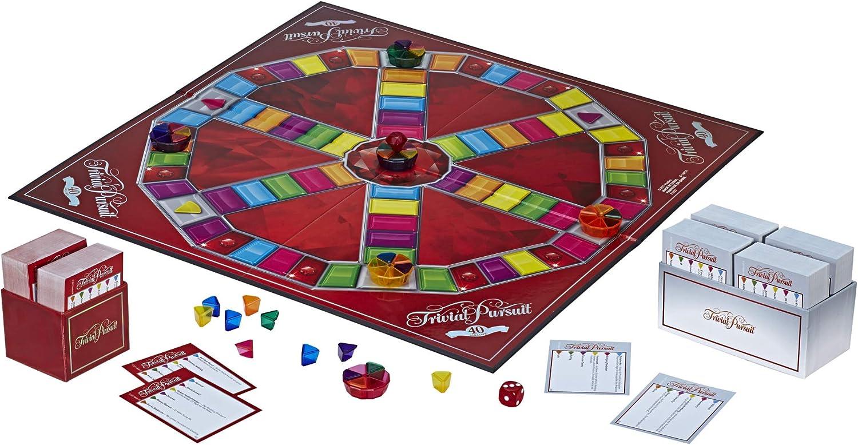 Trivial Pursuit E1923102 40th Anniversary Ruby Edition, multicolor, Versión Inglesa: Amazon.es: Juguetes y juegos