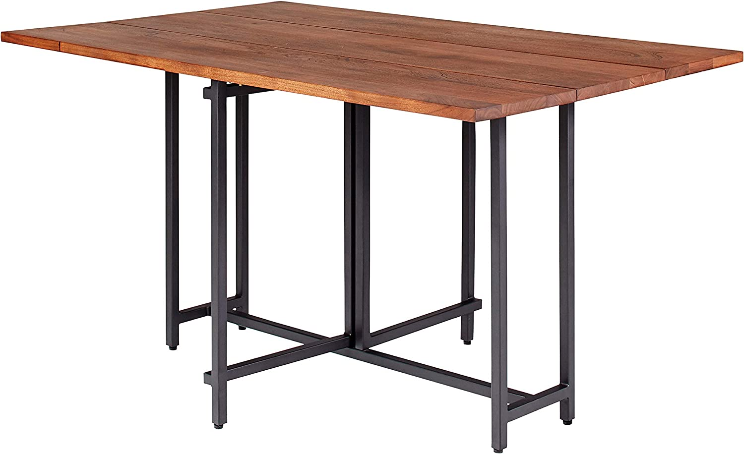 Coaster Home Furnishings Bridgeport Two Drop Leaves Warm Brown Dining Table