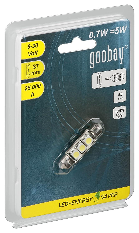 Goobay 30373 LED-Soffitte für 37mm Lampensockel mit 3 SMD LEDs ...