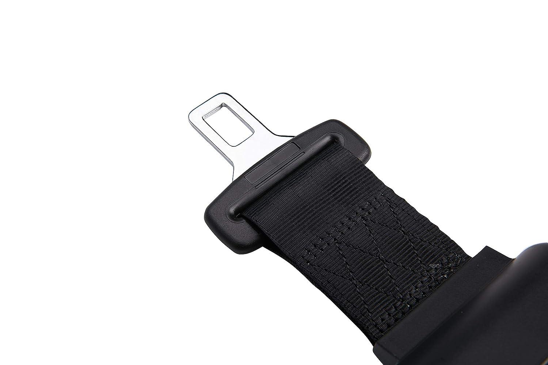 AVENA 2 Point Adjustable Seat Safety Belt Harness Kit Single Double Seat Lap Seatbelt Universal for Go Kart UTV Buggie Club Vehicle Truck Black