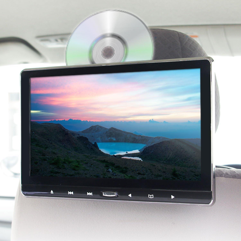 DVDプレーヤー 一体型 スロットイン ディスク CPRM 11.6インチ 車載 ポータブル ヘッドレスト リアモニター 大画面 IPS液晶 HDMI iPhone スマートフォン スピーカー内蔵 後部座席 モニター DVD CD USB microSD AV 外部入出力 RCA レジューム機能 シガーアダプター