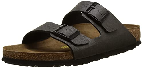 Birkenstock Unisex Adults' Arizona Pull up Anthracite Open Toe Sandals,  Grey (Pull up