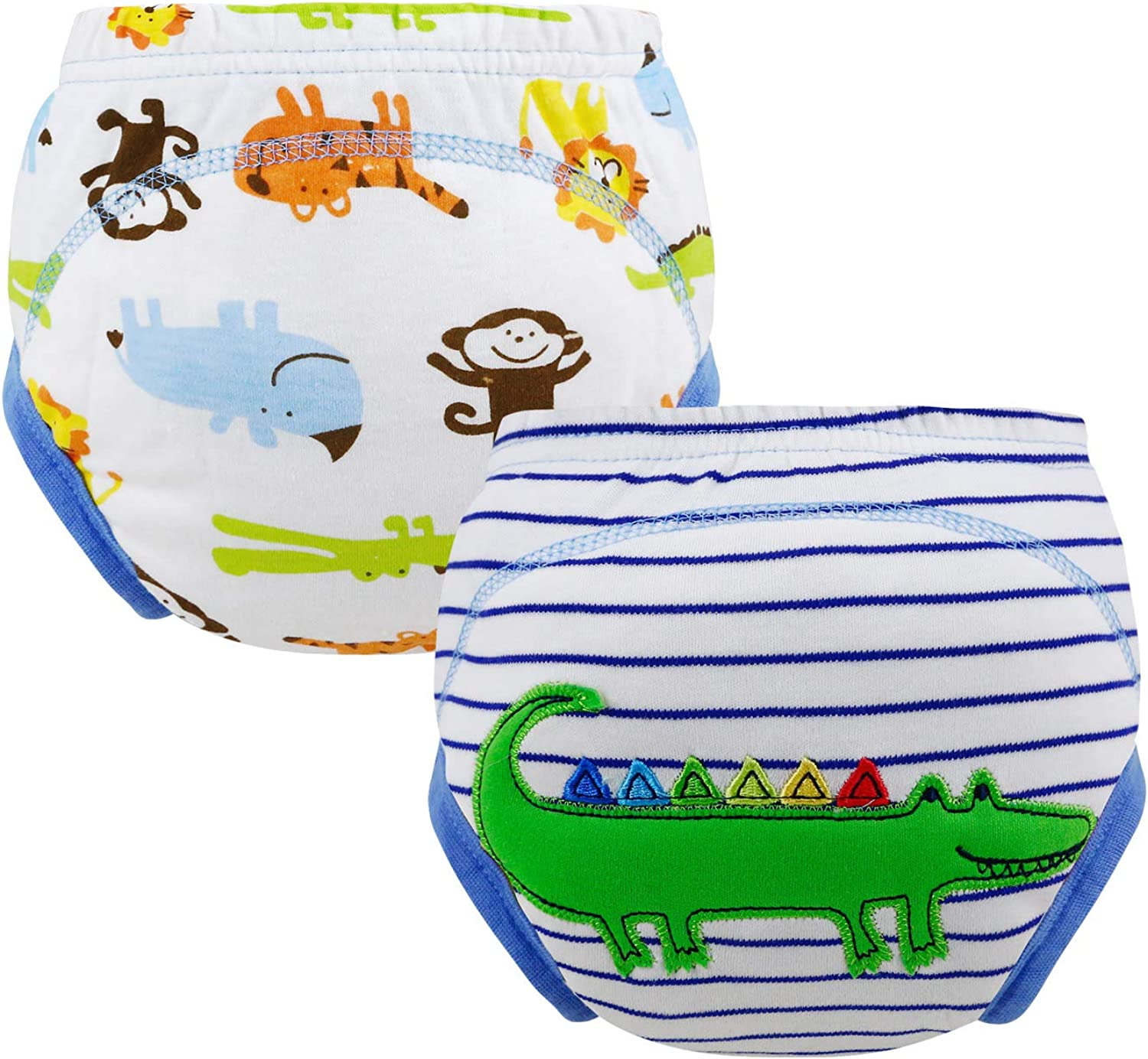 Baby Training Pants 2 Pack Cotton Toddler Thick Absorbent Potty Underwear for Boys Girls 12M-2T