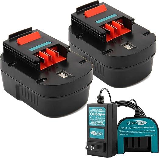 Creabest 12V battery 18V battery 1.2V-18V cargador de ...