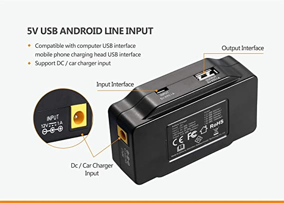 Amazon.com: Yeeyum Smart LCD USB Li-ion cargador de batería ...
