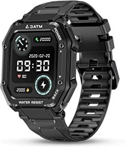 HopoFit Fitness Tracker,Smart Watch for Android Phones,3ATM Waterproof Bluetooth Fitness Watch for Women Men,Heart Rate Sleep Blood Pressure Pedometer Activity Tracking Compatible Samsung iPhone