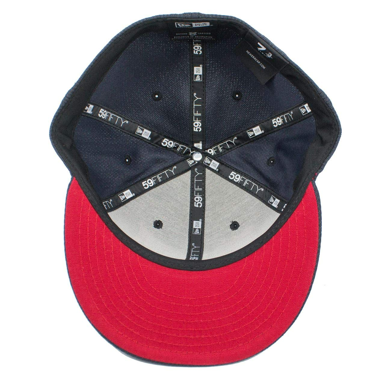 c3acaffe New Era Captain Marvel Navy Scarlet 5950 Fitted Hat at Amazon Men's  Clothing store: