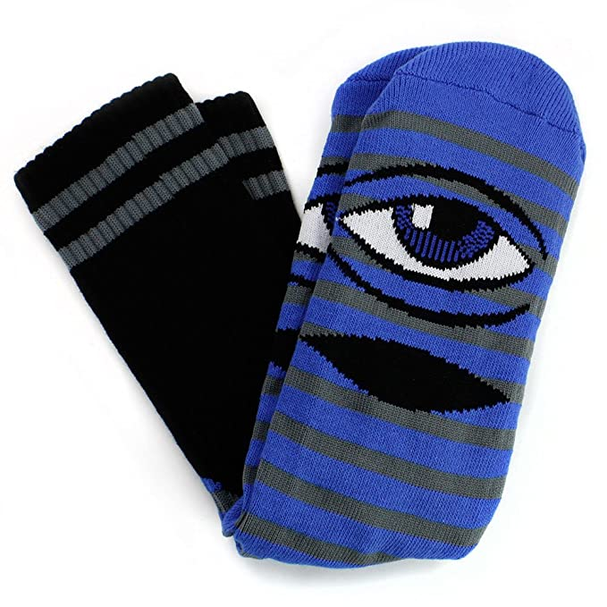 ba89479225a19 Toy Machine Mens Sect Eye Stripe Socks One Size Blue/Grey at Amazon ...