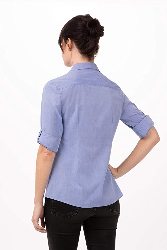 Amazon.com: Chef Works - Camisa de vestir para mujer: Clothing