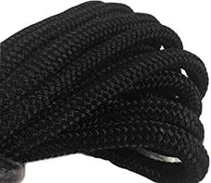 3/4 Inch Black Double Braided Nylon Rope