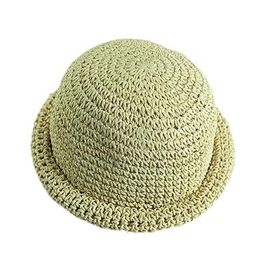 Leisial verano sombrero de sol gorro de paja playa sombreros del cubo  infantiles para niños bebés 6614f8f7442