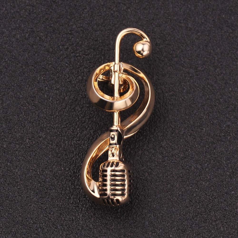 YYXXX Broches,Accessoires De V/êtements Officiels Broche Micro Microphone Mode R/étro Cr/éatif Musique Note Note