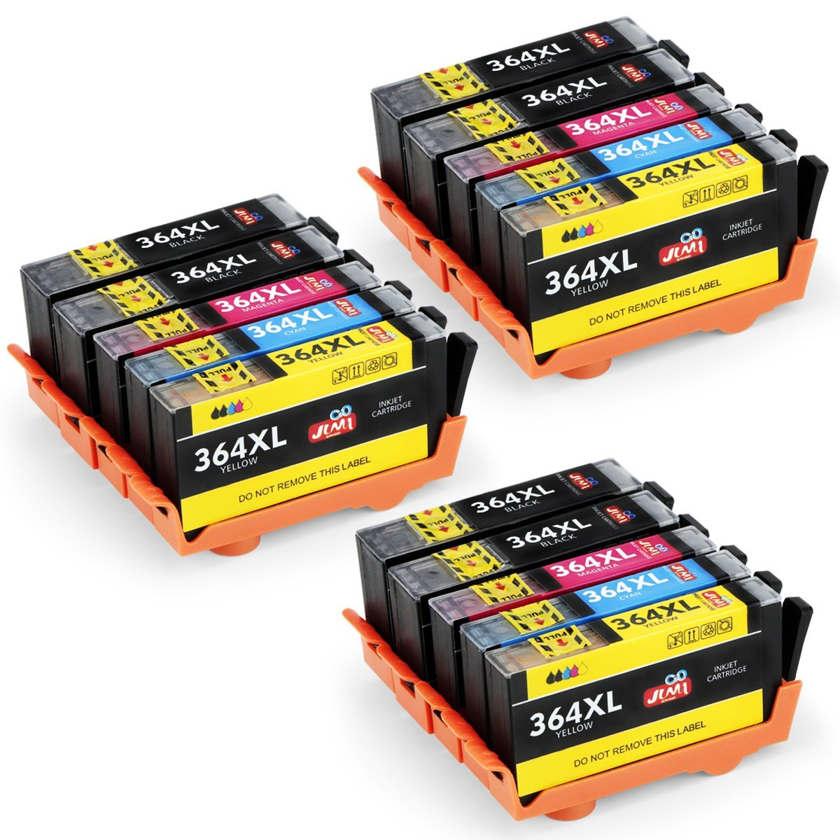JIMIGO 364XL Cartucce Sostituzione per HP 364 Cartucce Compatibile con HP Officejet 4620, HP Photosmart 7510 5520 5510 6520 7520 5524 5515 5522 B8550 C5388, HP Deskjet 3070A 3520