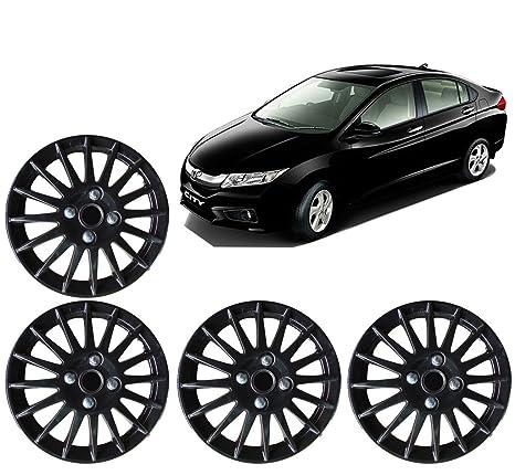 Autopearl Car Wheel Cover Cap For Honda City Idtec Set Of 4 Black