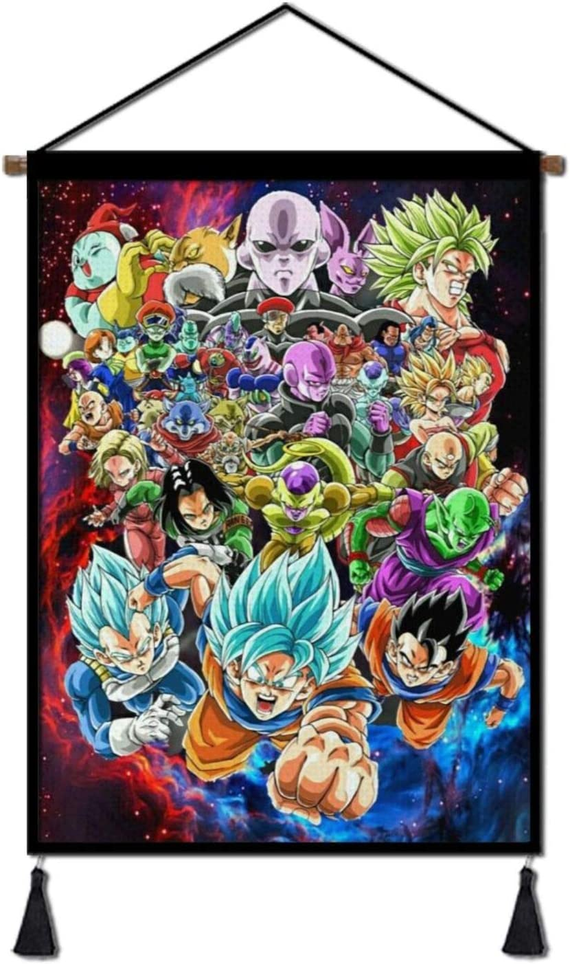 Anime Canvas Painting Poster, Hanging Wall Decor Art Scroll Artwork Print Picture 18x26in