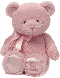 "Baby GUND My First Teddy Bear Stuffed Animal Plush, Pink, 18"""