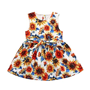 Xshuai for 0-24 Months Kids 2Pcs Fashion Toddler Newborn Baby Girls Duck Print Strap Dress+Lace Shorts Clothes Outfits Set