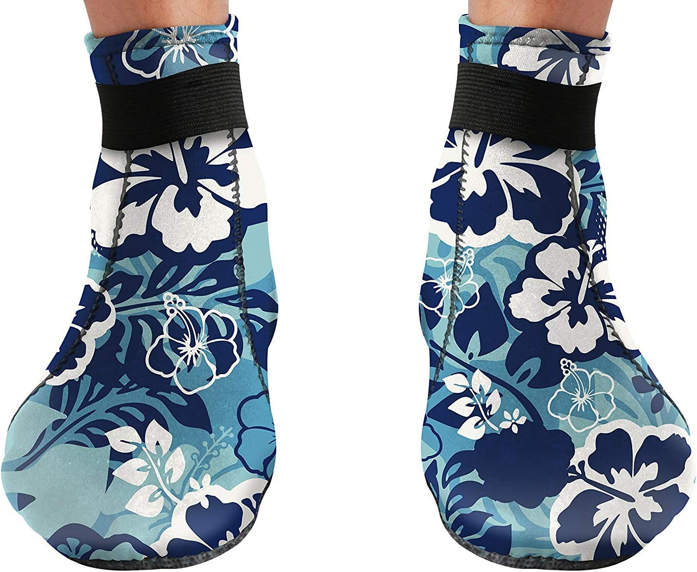 3mm Neoprene Glued and Blind Stitched w//Fit Adjustment Straps for Snorkeling Low Cut - Unisex BPS Storm Smart Sock Ultra Premium Water Fin Sock Tide-Pooling and All Water and Sand Activities