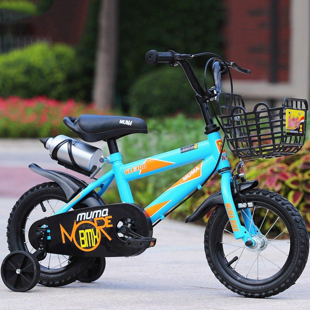 LI HAO SHOP Kinder Fahrrad Kinderwagen Kinder Mountainbike (mit Sportflasche Version) (Farbe   Blau, Größe   18 in)