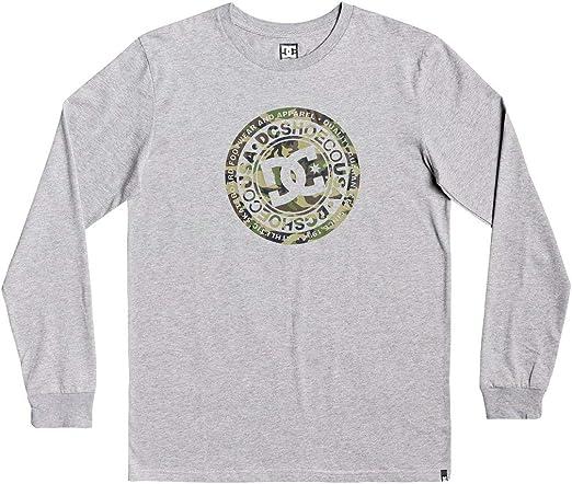 DC cercle étoile T-shirt manches longues gris heather//Camouflage