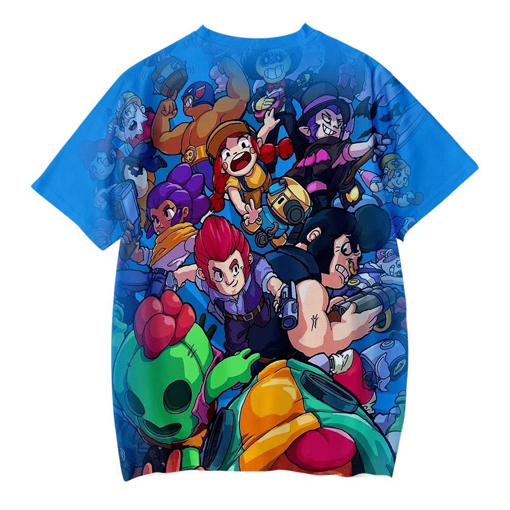 puerhki T-Shirt Impression 3D D/éContract/éE Motif Int/éRessant Haut /à Manches Courtes pour Enfants D/éT/é