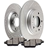 Mercury Based on Chart Rear Brake Rotors /& Ceramic Pads For Ford,Lincoln Mazda