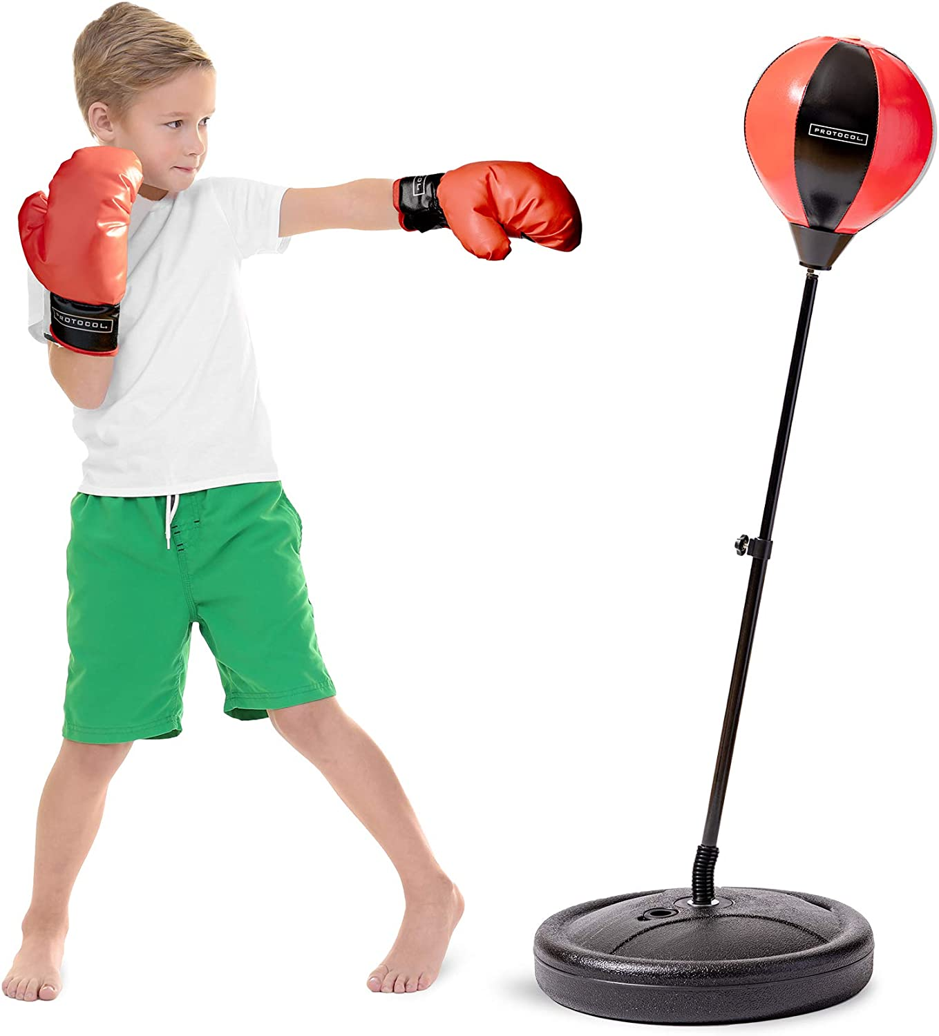 Punching Bag with Stand Height Adjustable Punching Ball Boxing Speed Bag for Kids//Adults Home Gym Great Partner.
