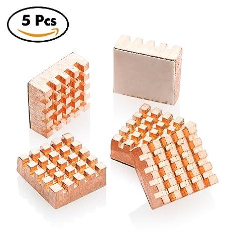 Easycargo 10pcs 14mm dissipateur Kit 14x14x10mm Ruban adh/ésif conducteur pr/é-appliqu/é 3M 8810 pour Refroidissement des puces GPU IC VRAM VGA RAM