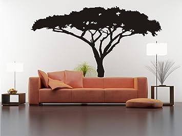 Wandtattoo Afrikanischer Baum Nr. L395 Wandsticker Wandaufkleber Wanddeko